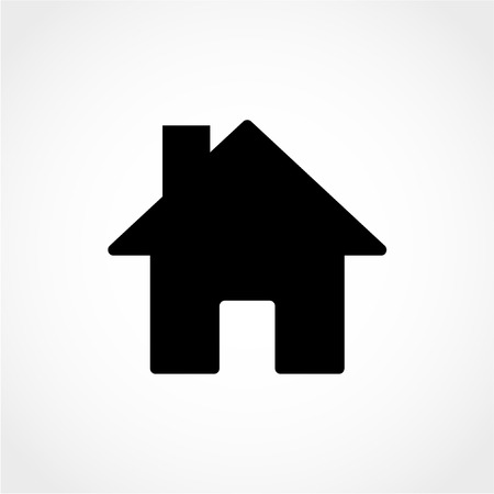 Home Icon Isolated on White Background 向量圖像