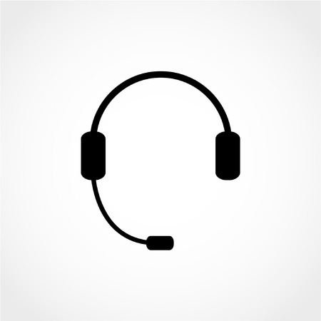 Headphone for support or service Icon Isolated on White Background 向量圖像