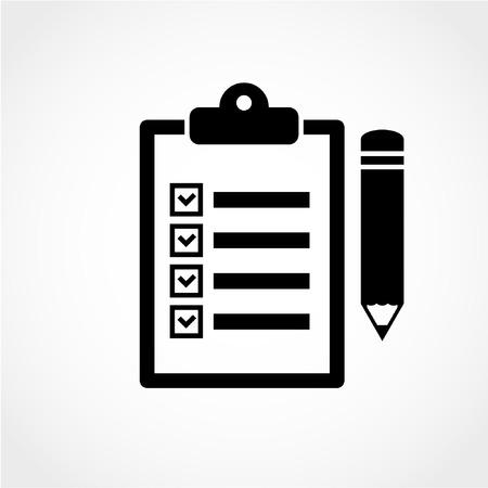Presse-papiers Icône de crayon isolé sur fond blanc