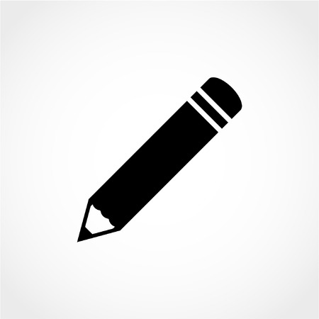Pencil Icon Isolated on White Background 向量圖像