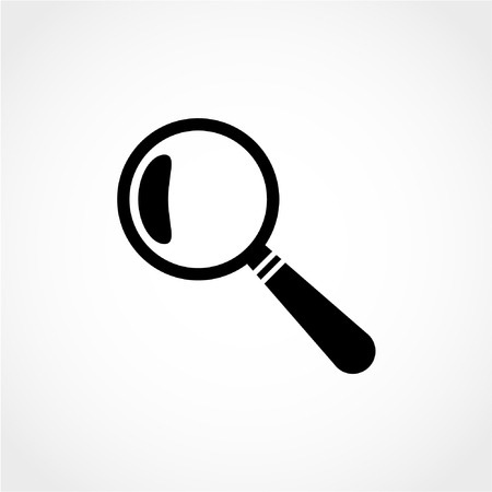 detect: Magnify Icon Isolated on White Background