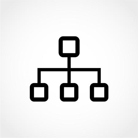 Network Icon Isolated on White Background