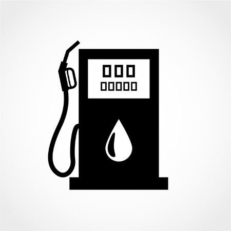 Gas station sign Icon Isolated on White Background