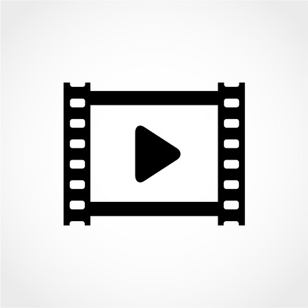 Video Icon Isolated on White Background
