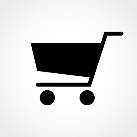 Shopping cart Icon Isolated on White Background 版權商用圖片 - 50995380