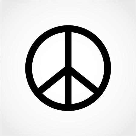 Signe de paix isolé sur fond blanc