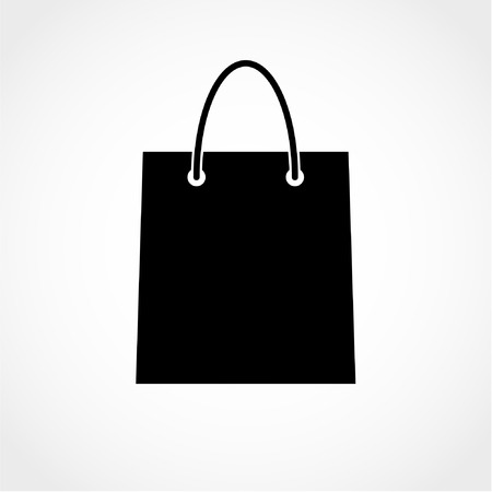 Shopping bag Icon Isolated on White Background 向量圖像