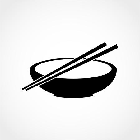 Noodle Icône isolé sur fond blanc