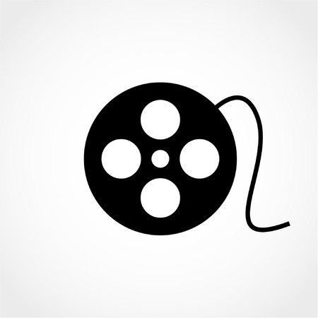 Film reel Icon Isolated on White Background