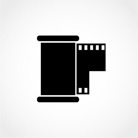 Film Icon Isolated on White Background