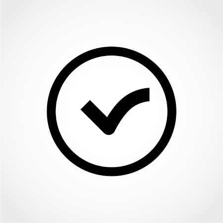voted: Check mark Icon Isolated on White Background