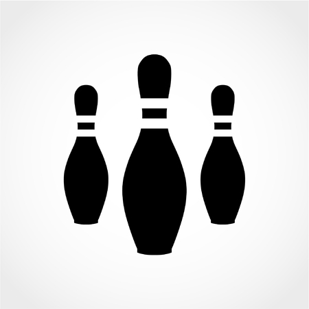 Bowling Pins Icon Isolated on White Background