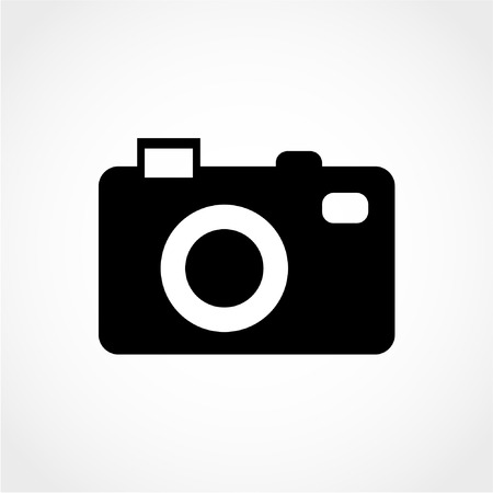 Camera Icon Isolated on White Background 向量圖像