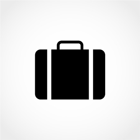 Luggage symbol Icon Isolated on White Background
