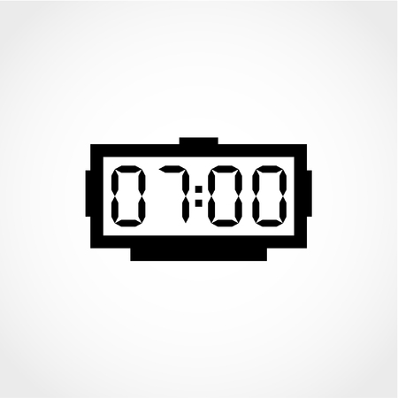 Digital alarm clock Icon Isolated on White Background
