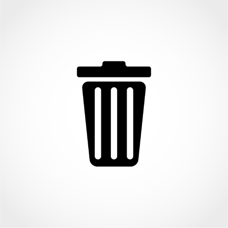 Trash can Icon Isolated on White Background