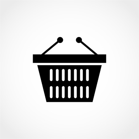 Shopping cart Icon Isolated on White Background 向量圖像