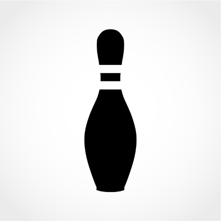 Bowling Pin Icon Isolated on White Background