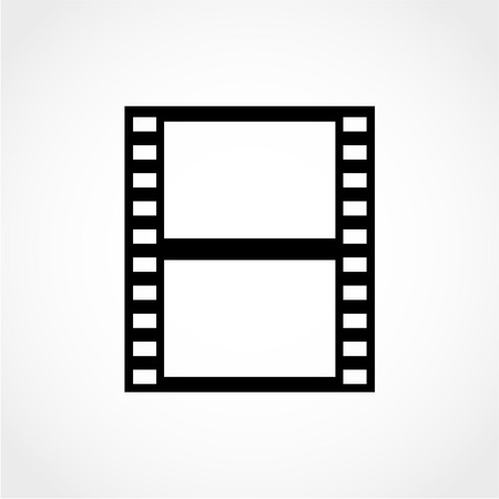Film Icon Isolated on White Background