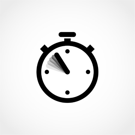 Stopwatch Icon Isolated on White Background