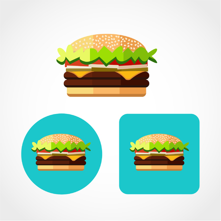Burger Icon Isolated on White Background 向量圖像