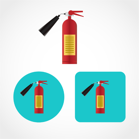 fire extinguisher Icon Isolated on White Background