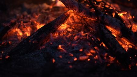 bon fire at night Banque d'images