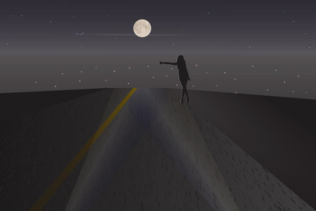 the stranger: Night Stranger. Vector illustration for your design.