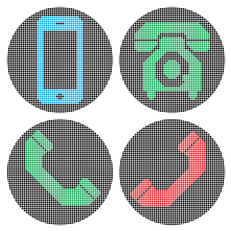 web sites: Pixel phone icons. Icons for your web sites, design, banners, posters etc.