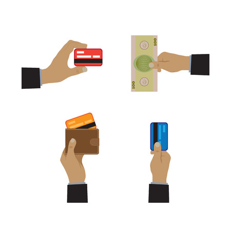 methods: Payment methods icons. Elements for design. Illustration