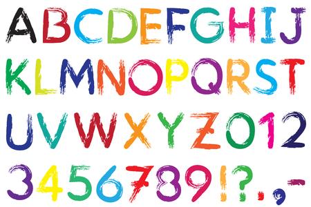 hyphen: Carattere. Alfabeto. # 4. Lettere AZ + Numbers 0-9 + punto esclamativo + punto interrogativo + virgola + virgola + trattino, trattino (!) (?) (-). Il font � disegnato con un pennello. Colore di un font pu� essere modificato facilmente.