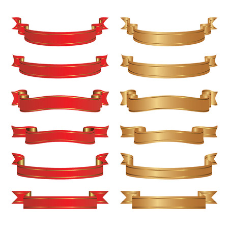 collection red: Set of  ribbons. Elements for design.