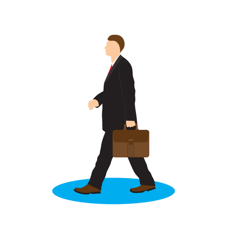 corporate people: Man with briefcase. Businessman.  Illustration, elements for design.