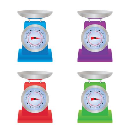 Shop scales. Illustration, elements for design. Vettoriali