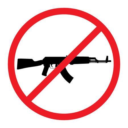 No Guns Allowed Sign. No Weapons Sign.