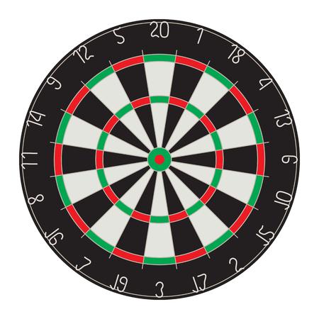 Target for Darts. Darts. Sport. 矢量图像