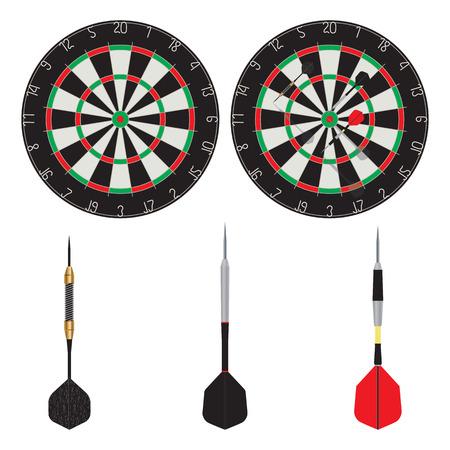 Target and dart. Darts. Sport. Archivio Fotografico - 124643208