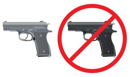Gun. Pistol. Sign