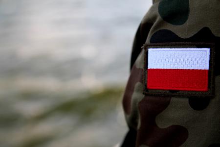 bandera de polonia: Pabell�n polaco Foto de archivo