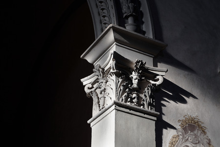 Elements of Italian architecture situated in church in Florence Archivio Fotografico