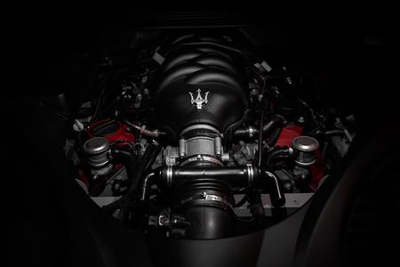 very powerful v8 motor of fast Italian car