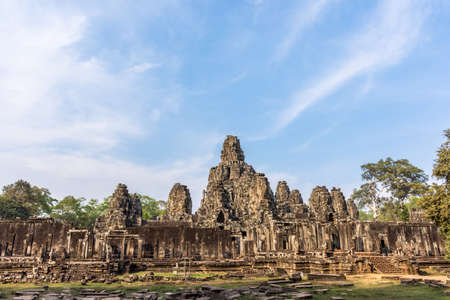 The famous wonder of the world Angkor Wat temple ruins, Cambodia.
