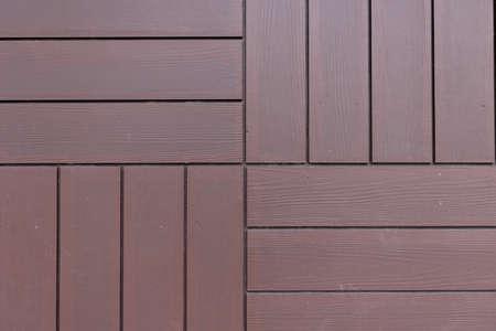木製効果装飾寄木細工パネルのクローズアップ。