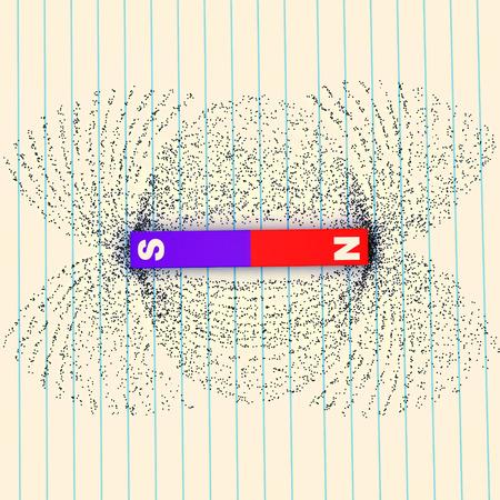 bar magnet: Magnetic field lines