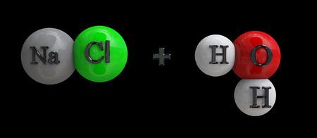 hydroxide: Sodium hydroxide Stock Photo