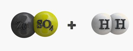 balanza de laboratorio: Sulfato de cinc