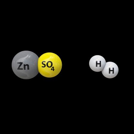 hidr�geno: Sulfato de zinc con hidr�geno Foto de archivo