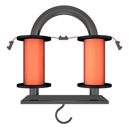 electro: Electro Magnet-U-Form Lizenzfreie Bilder