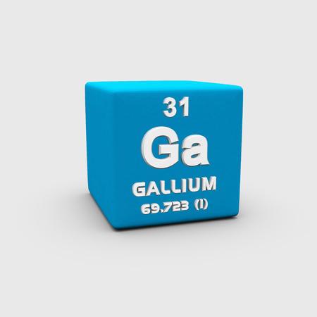 atomic: Atomic Number Gallium Stock Photo