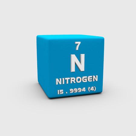 atomic: Atomic number nitrogen Stock Photo